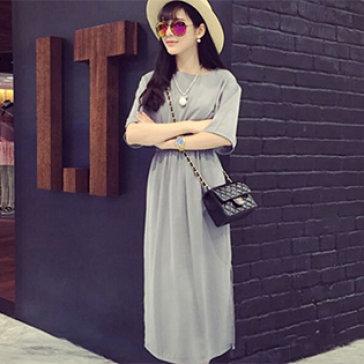 Đầm Maxi Thun Xẻ Tà Sunny