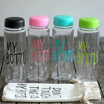 Bình Nước + Túi My Bottle Màu Thời Trang
