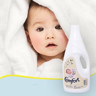 Nước Xả Vải Comfort Pure Malaysia Cho Bé 2 Lít