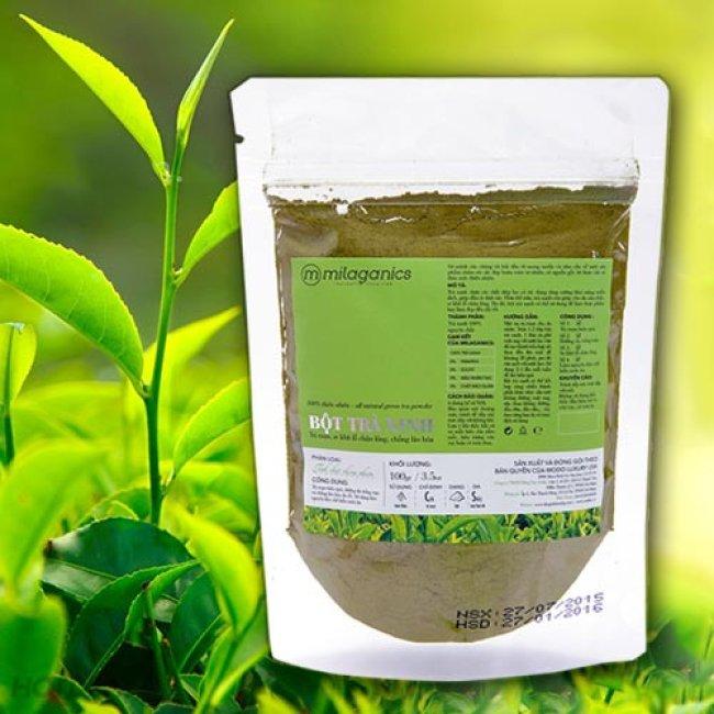Bột trà xanh Milaganics 100g