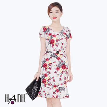 Đầm Hoa Kèm Nịt 5334 Thời Trang Hạnh