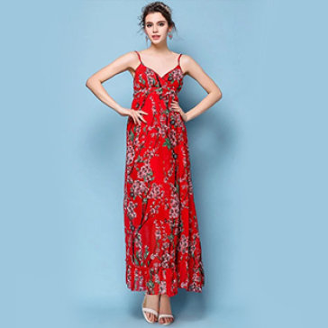 Đầm Maxi Hoa Anh Đào