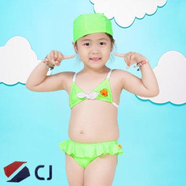 Combo Đồ Bơi & Nón Bơi Bé Gái NK Hàn Quốc CJ B009