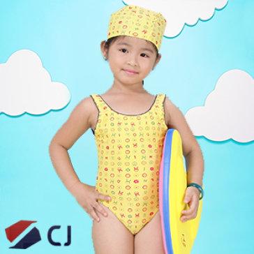 Combo Đồ Bơi & Nón Bơi Bé Gái Nhập Khẩu Hàn Quốc CJ B001