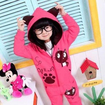 Áo Khoác Hình Mèo Có Tai Xinh Xắn Cho Bé