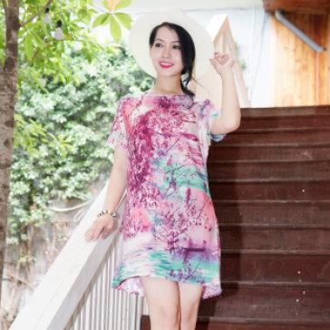 Đầm Cindy Kono In Hoa