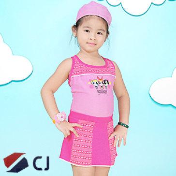 Combo Đồ Bơi Và Nón Bơi Bé Gái Nhập Khẩu Hàn Quốc CJ B002