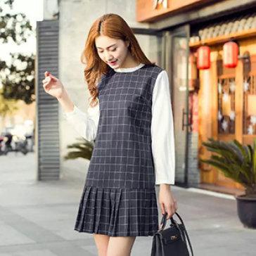 Đầm Sơ Mi Caro Korea