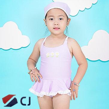 Combo Đồ Bơi Và Nón Bơi Bé Gái Nhập Khẩu Hàn Quốc CJ B007