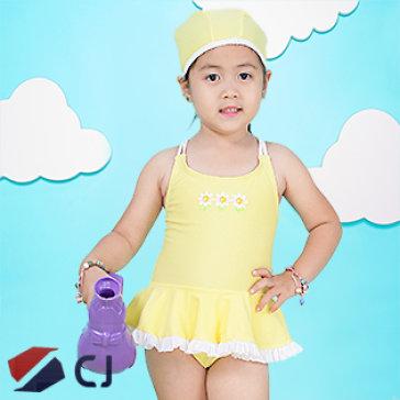 Combo Đồ Bơi & Nón Bơi Bé Gái Nk Hàn Quốc CJ B013