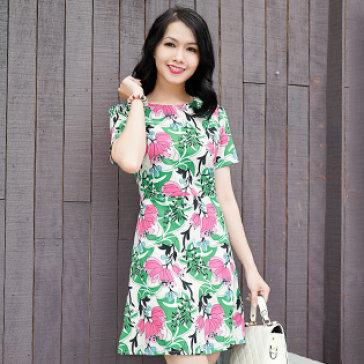Đầm Hoa Pinky Girl
