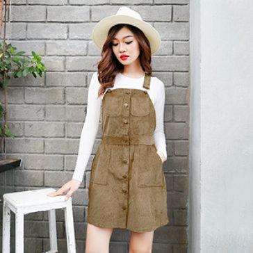 Đầm Jean Nhung Dạo Phố