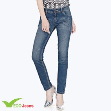 Quần Jean Dài Nữ - JNUD005M1 - Eco Jean