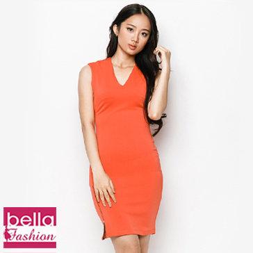 Đầm Body Phối Dây Kéo M 02 Bella Fashion