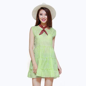 Áo Babydoll In Hoa