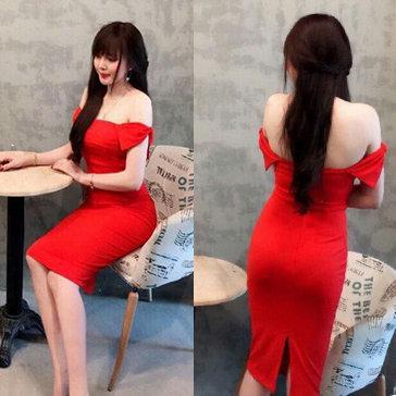 Đầm Body Cúp Ngực Vai Nơ
