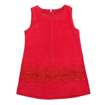Đầm Nhung Phối Ren Cách Điệu Thương Hiệu Lydobb Cho Bé