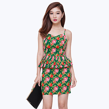 Set Áo 2 Dây + Váy Hoa