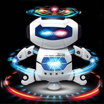 Robot Hành Tinh Xanh, Chong Chóng, Nhảy, Xoay 360 Độ