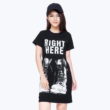 Đầm Suông In Chữ Dini