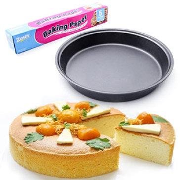 Combo Khuôn Nướng Bánh Tròn Chống Dính Và Giấy Lót Làm Bánh UBL (KC0224, KC0087)