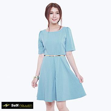 Đầm Công Sở Xếp Ly Thanh Lịch 22505 - BST Sơn Nguyễn