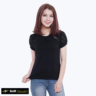 Áo Thun Nữ Phối Ren 63602 Sơn Nguyễn