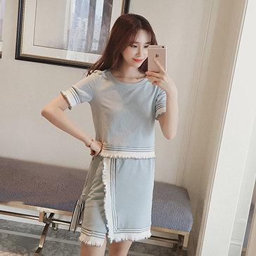 Set Áo Thun Chân Váy Korea Style