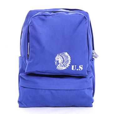 Ba Lô Vải Bố Nhiều Ngăn Đính Logo US Thời Trang