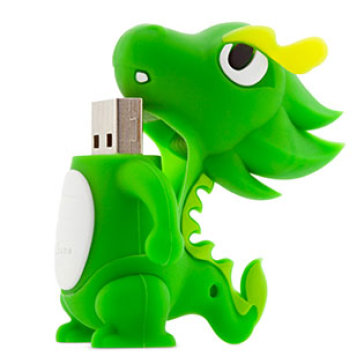 USB Bone 8Gb Dragon Green - USB 2.0