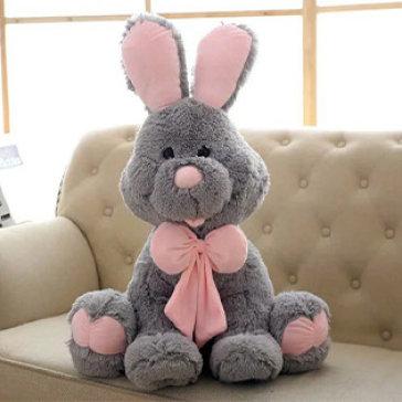 Thỏ Bunny Nhồi Bông Lông Siêu Mềm Size Lớn