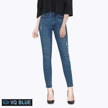 Quần Jean Skinny Xước Rách VQ Blue 7812