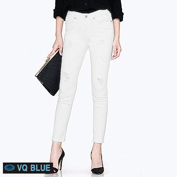 Quần Jean Trắng Rách VQ Blue 7803-3