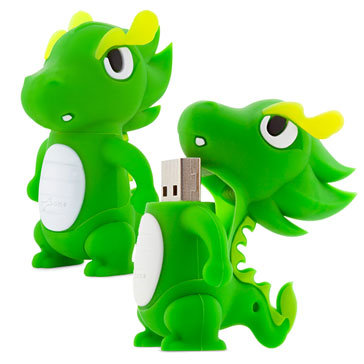 USB Bone 16Gb Dragon Green - USB 2.0