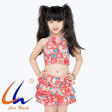 Đồ Bơi Bộ Váy Bé Gái 22008 BST Lan Hạnh