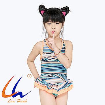 Đầm Bơi Bé Gái Dây Chéo 91024