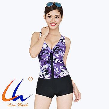 Bộ Bơi Mai Short Nhún 30012 Lan Hạnh