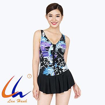 Đầm Bơi Nhún Bèo Ngực 90046 - BST Lan Hạnh