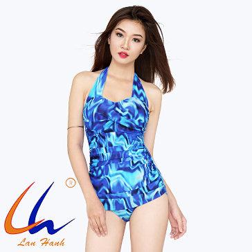 Bộ Bơi Mai Short Xoắn Ngực 30033 - BST Lan Hạnh