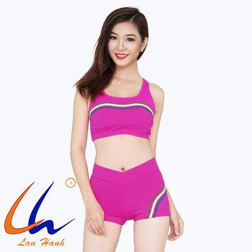 Bộ Bơi Short Phối Viền 21056 Lan Hạnh
