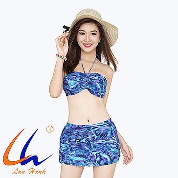 Bộ Bơi Váy Xẻ Tà 22005 - BST Lan Hạnh