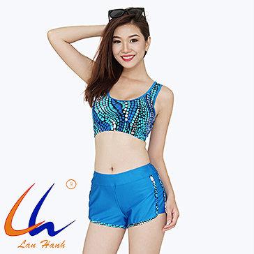 Bộ Bơi Short Nách Vuông 21063_S6897 - BST Lan Hạnh