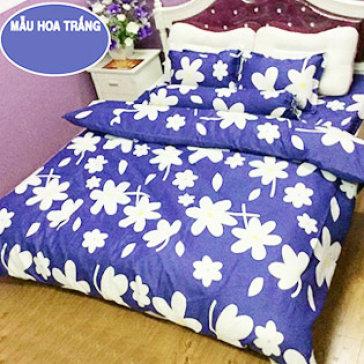 Bộ Drap Gối Cotton Nhung 1.6M BST Hoa - Lys At Home