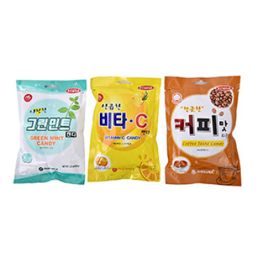 Combo 3 Bịch Kẹo Hàn Quốc Mammos (Vitamin C, Cà Phê, Bạc Hà)