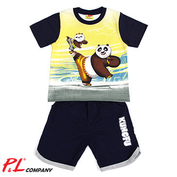 Bộ Thun Bé Trai Gấu Kungfu Size Lớn - TH P&L