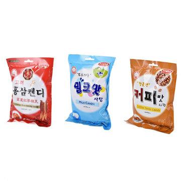 Combo 3 Bịch Kẹo Hàn Quốc Mammos (Cafe, Hồng Sâm, Sữa)