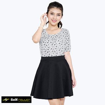 Áo Kiểu Nữ Cổ Tròn Xếp Ly - 03001 - TH Sơn Nguyễn
