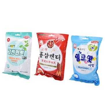 Combo 3 Bịch Kẹo Hàn Quốc Mammos (Hồng Sâm, Sữa, Bạc Hà)