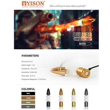 Tai Nghe Yison EX780 - Thiết Kế Hình Viên Đạn Mạnh Mẽ