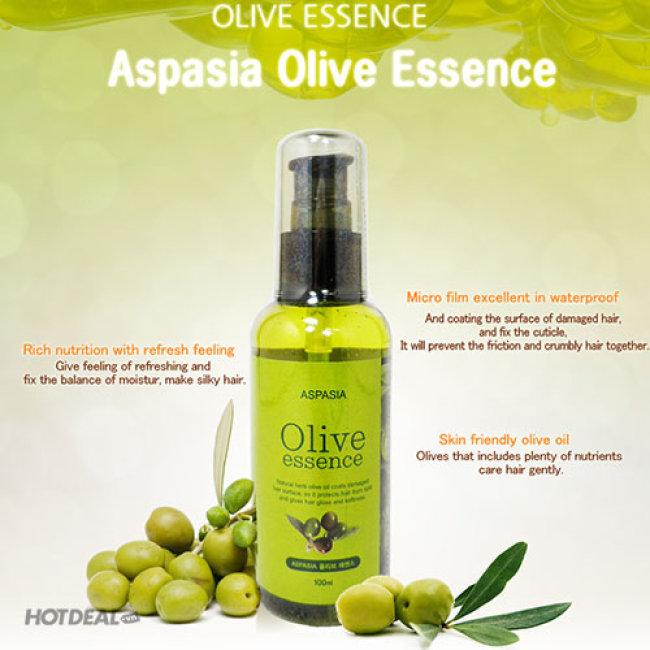 Tinh Chất Phục Hồi Tóc Hư Tổn Từ Olive Aspasia Oilve Essence 100ml